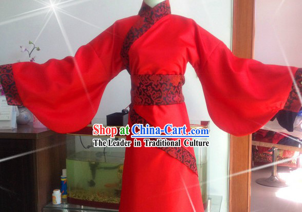 Ancient Chinese Red Gu Zhuang Clothing for Women