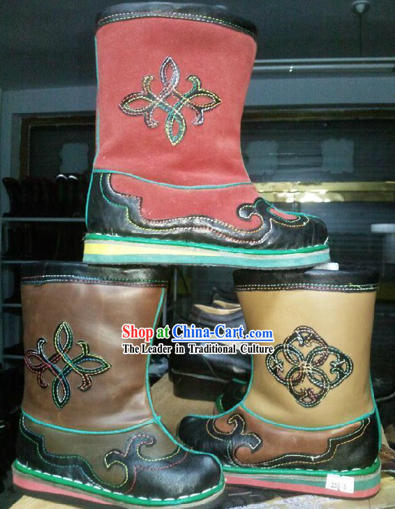 Handmade Classic Mongolian Cowhide Boots for Children