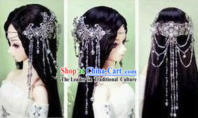 Ancient Chinese Pure White Wedding Hair Accessories for Brides
