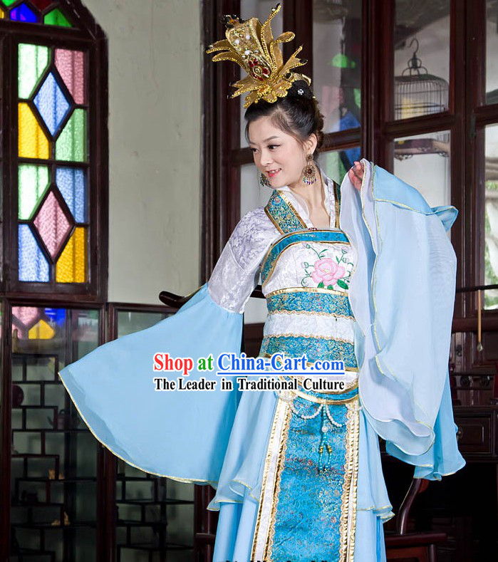Ancient Chinese Palace Wide Sleeve Dance Costume for Women