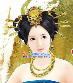 Ancient Chinese Tang Princess Hair Accessories Set