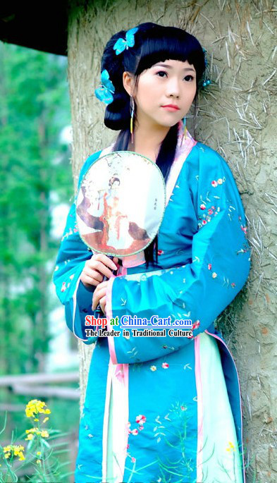 Dream of Red Chamber Lin Daiyu Blue Dress