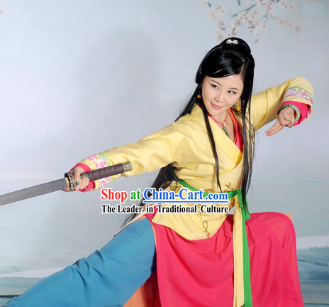 The Smiling Proud Wanderer Ren Ying Ying Head Daughter Costumes Complete Set