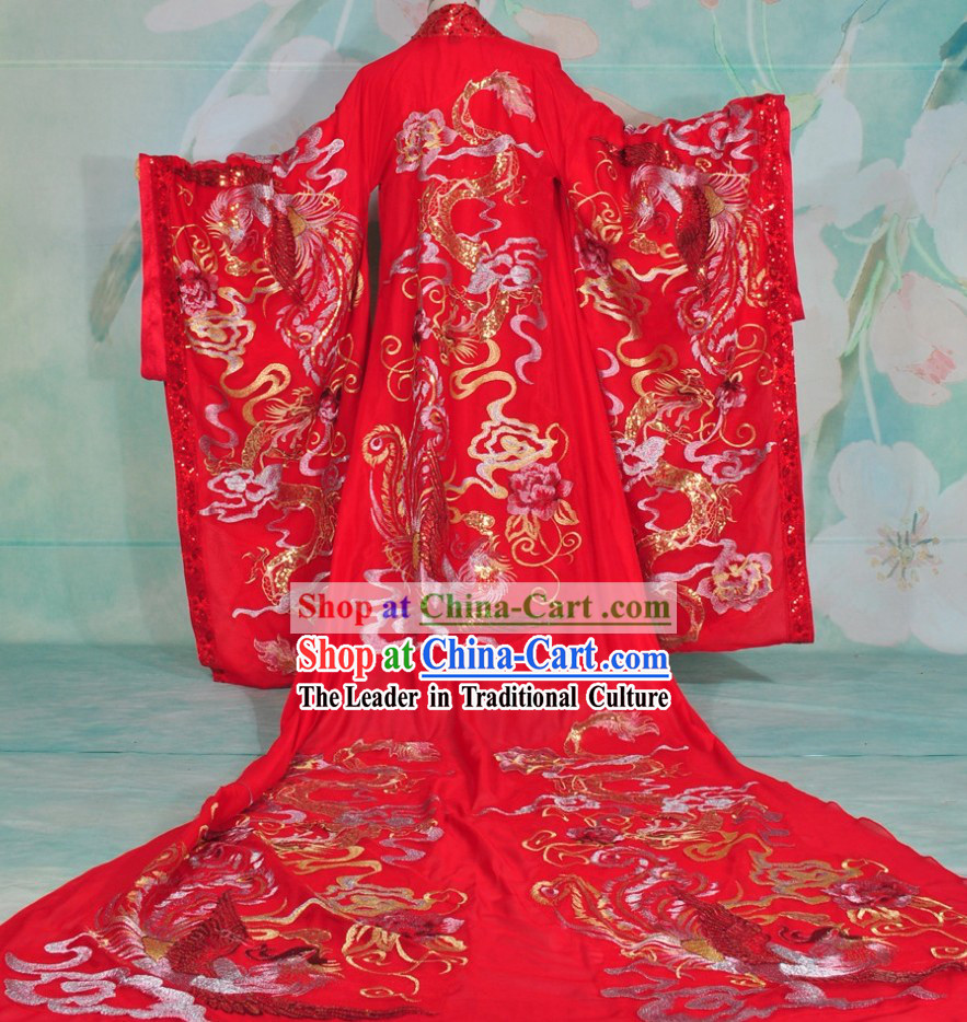 Ancient Chinese Embroidered Dragon Bridegroom Wedding Dress Complete Set