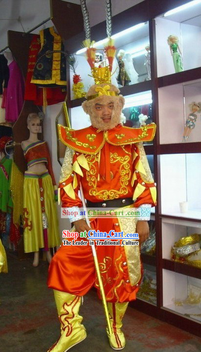 Traditional Chinese Sun Wukong _Monkey King of Journey to the West_ Costumes Complete Set