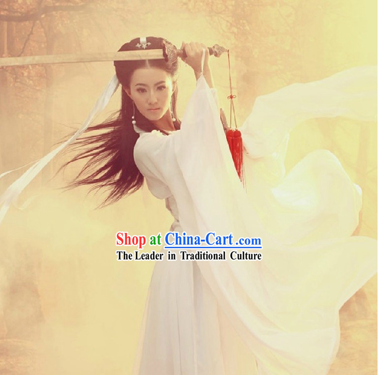 Ancient Chinese White Hanfu Clothing for Women