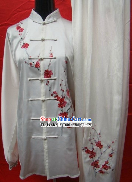 Traditional Chinese Embroidered Plum Blossom Kung Fu Uniform