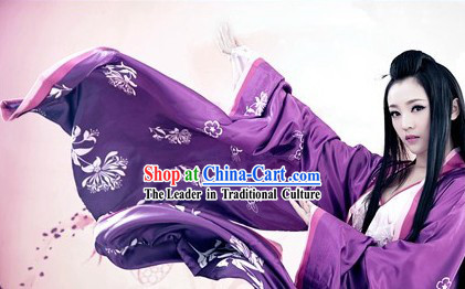 Ancient Chinese Purple Beauty Hanfu Clothing for Women