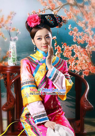 Ancient Chinese Qing Dynasty Palace Waitress Maid Costumes