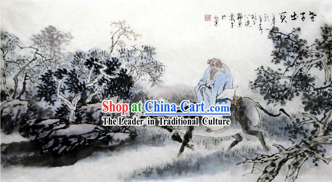 Chinese Classic Painting of Lao Tzu a Propitious Omen by Tang Ming