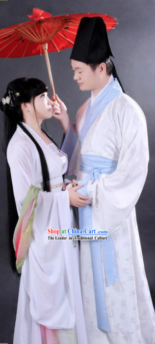Ancient Chinese Husband and Wife Love Couple Two Sets for Men and Women