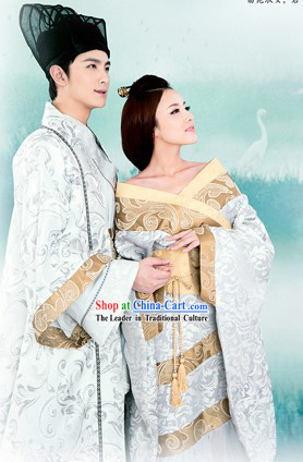 Ancient Chinese Lover Husband and Wife Clothes for Men and Women