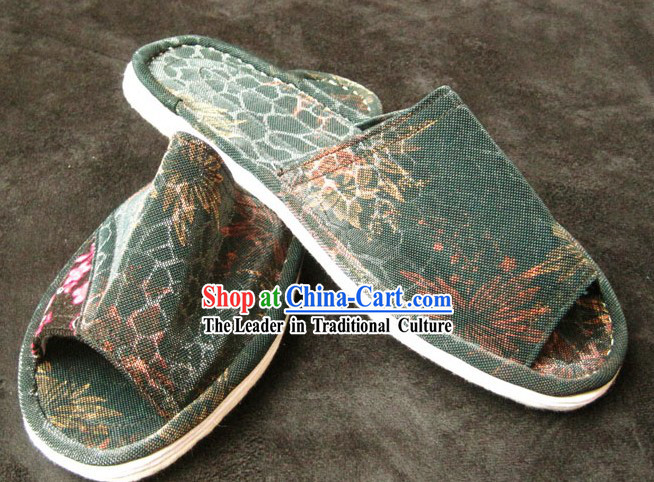 All Handmade Chinese Thick Sole Cotton Slippers
