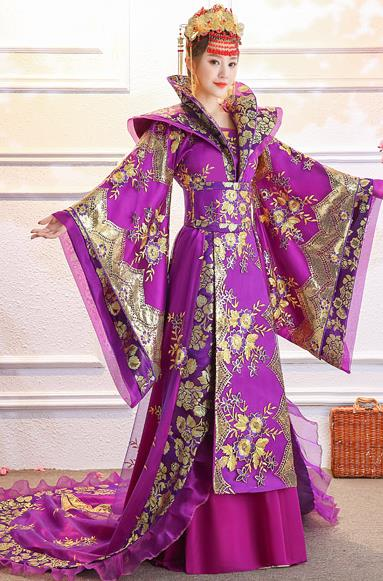 Ancient Chinese Imperial Palace Empress Costumes Complete Set for Women