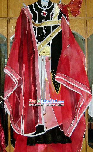 Ancient Chinese Magic Butterfly Prince Cosplay Costume Complete Set for Men