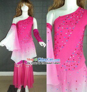 Custom-Made Shinning Crystal Dance Costumes for Women