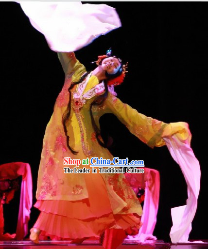 Stage Performance Hua Dan Dance Costumes and Headgear for Women