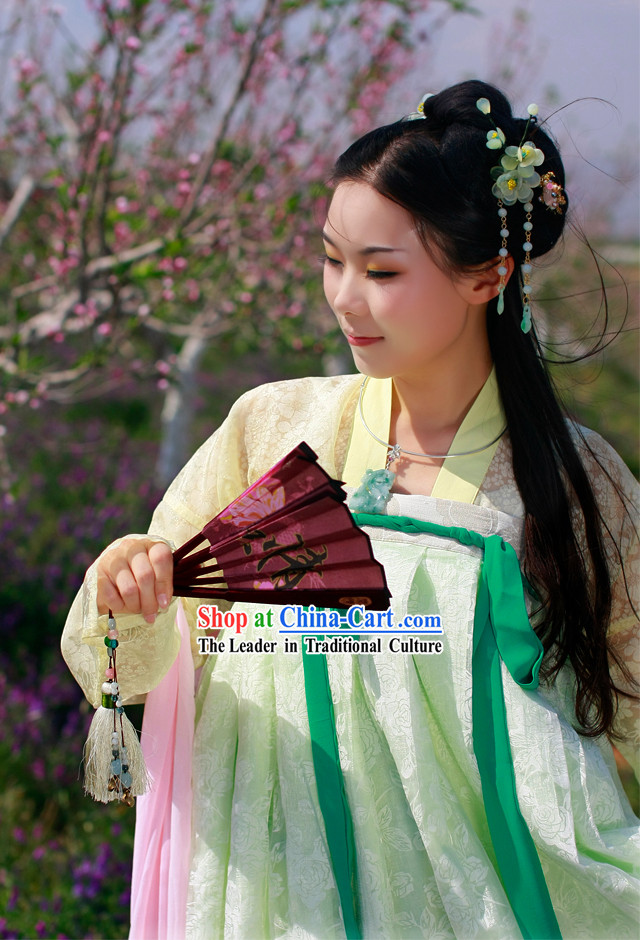 Tang Dynasty Princess Ruqun Clothing and Cape Complete Set