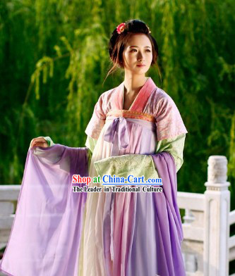Tang Dynasty Imperial Palace Female Ruqun Clothing and Cape Complete Set for Women