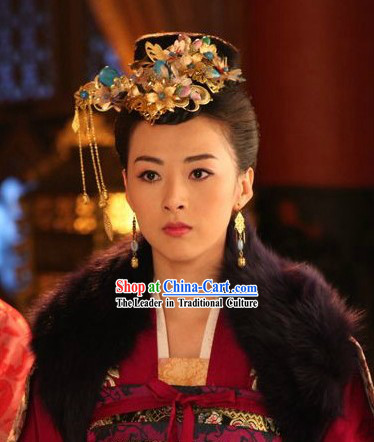Movie and Television Play Tang Dynasty Empress Hair Accessories Complete Set