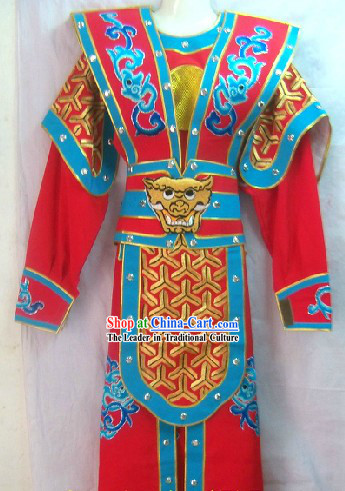 Traditional Chinese General Armor Dramatic Costume for Men