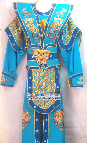 Ancient Chinese General Armor Costume for Men