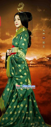 Han Dynasty Empress Han Fu Clothing and Accessories Complete Set