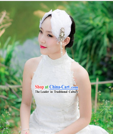 Handmade Traditional Chinese Wedding Swan Dance Style Bridal Hair Accessories Complete Set