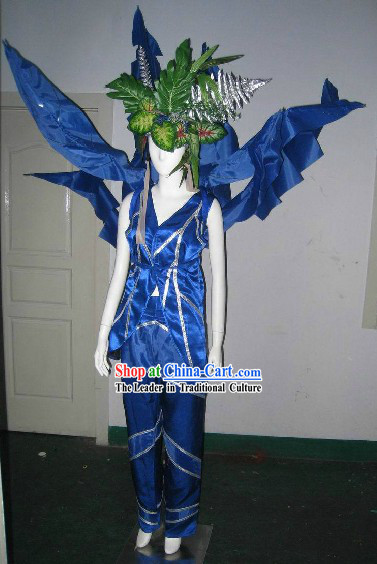 Traditional Chinese Modern Forest Dance Costumes Complete Set