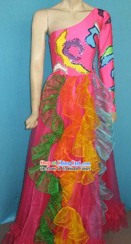 Chinese Ceremony Stage Performance Dance Costumes Complete Set for Kids