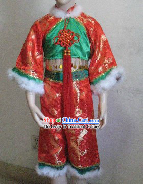 Chinese New Year Celebration Dance Costumes Complete Set for Kids