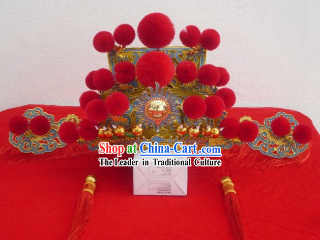 Traditional Chinese Festival Ceremonial Celebration Cai Shen Hat
