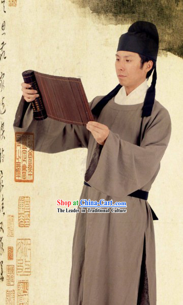 Li Bai The Chinese Tang Dynasty Poet Man Clothing and Hat Complete Set