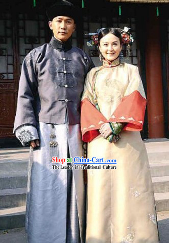 Ancient Chinese Royal Family Husband and Wife Clothing and Headwear