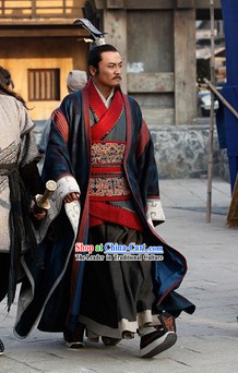 Ancient Chinese Government Official Royal Family Male Costumes and Coronet