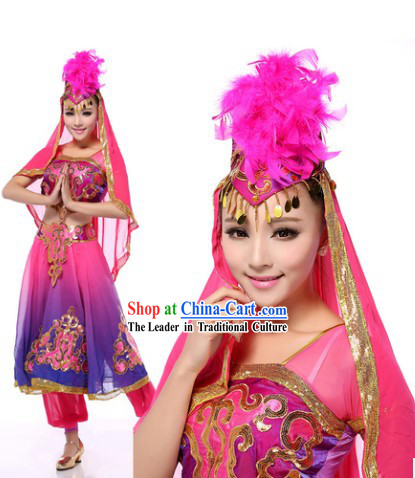Bollywood Indian Dance Costumes Complete Set for Women