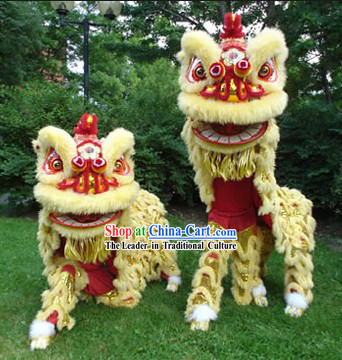 Supreme Chinese New Year Cute Hoksan Lion Dance Costumes Complete Set