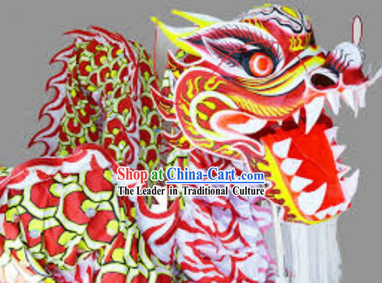 Traditional Chinese Dragon Dance Costume Complete Set for Men