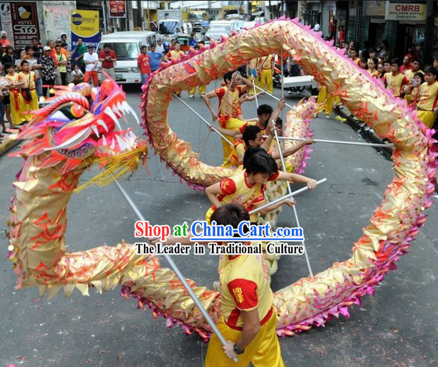 Chinese Lunar New Year Dragon Dance Costume Complete Set for Adults