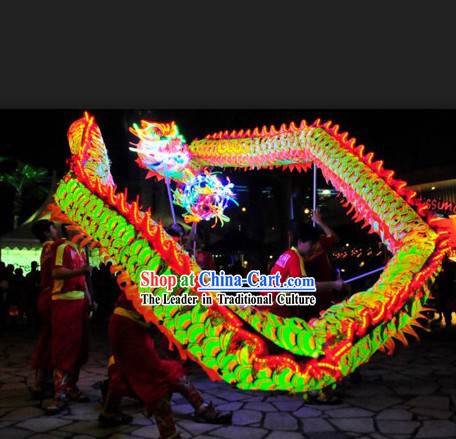 Professional Competition and Performance Luminous Dragon Dance Head and Costumes Complete Set