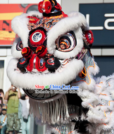 Top Southern Hoksan Lion Dancing Head and Costumes Complete Set