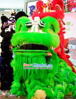 Green Southern Hoksan Lion Dance Costume Complete Set