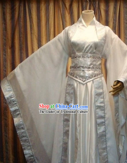 Ancient Chinese White Bridegroom Wedding Dress for Men
