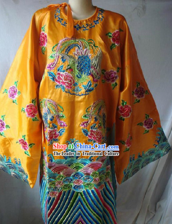 Chinese Classical Peking Opera Laodan Embroidered Phoenix Costume