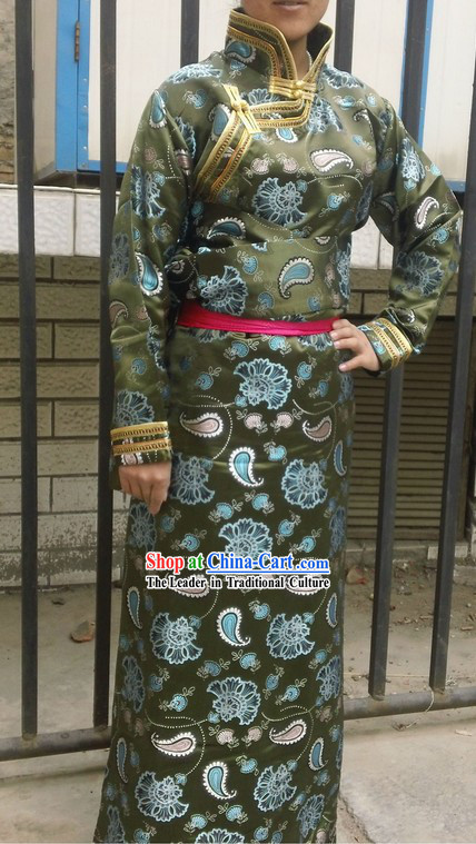Traditional Tibetan Daily Silk Clothing for Women