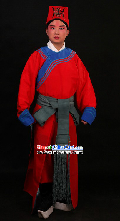 Ancient Chinese Policeman Costume and Hat for Men