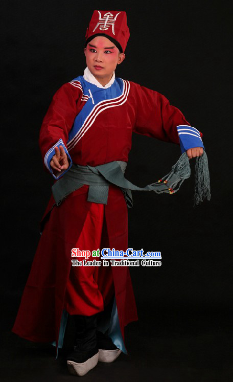 Ancient Chinese Policeman Costumes and Hat for Men