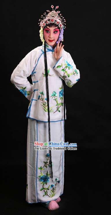 White Chinese Peking Opera Costumes for Women