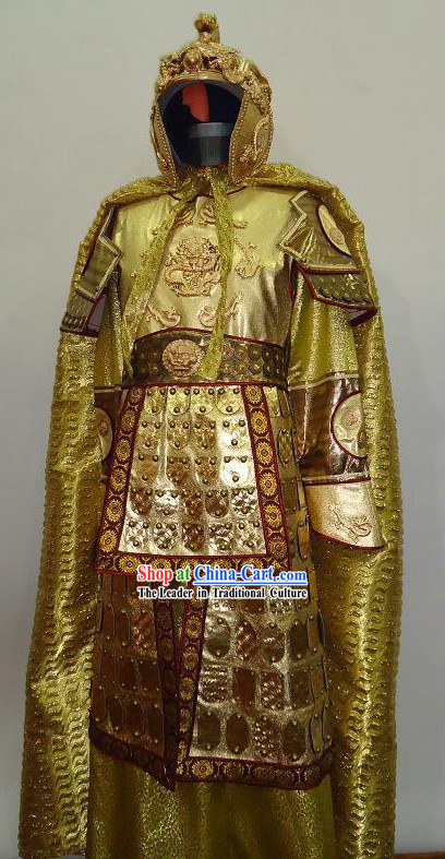 Curse of the Golden Flower Prince Dragon Armor Costumes and Helmet for Men