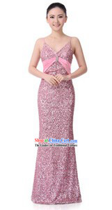 Traditional Shinning Pink Chorus Dresses for Women